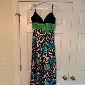Jovani Abstract Floral Gown